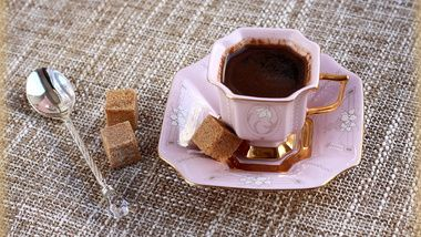 spoon, sugar, pink, cup, porcelain, still life, coffee