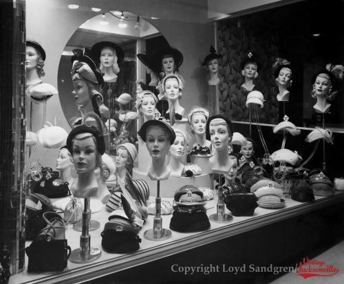 Photographs By Loyd Sandgren Hat Stores Vintage Mannequin Bw Photo