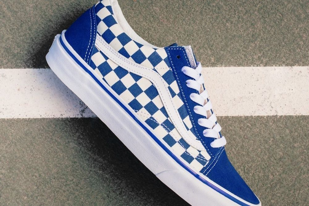 76461028870 New Mens Vans Primary Check Old Skool Blue Checkerboard Pack Chex Shoes  SIZE 12  fashion  clothing  shoes  accessories  mensshoes  at…