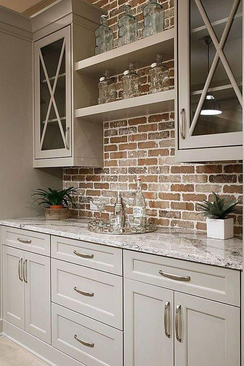 brick backsplash kitchen design