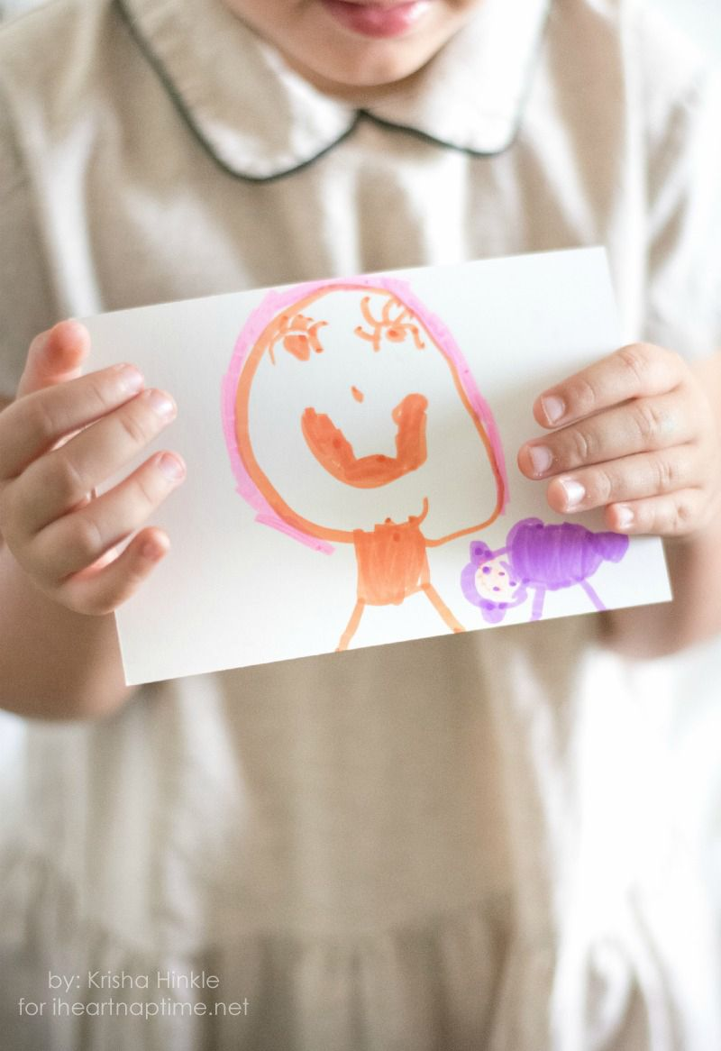 Kid Made Postcards I Heart Nap Time | I Heart Nap Time - Easy recipes, DIY crafts, Homemaking