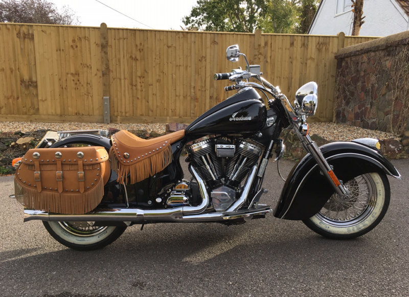 Indian Chief Vintage (not a HarleyDavidson), 250 miles