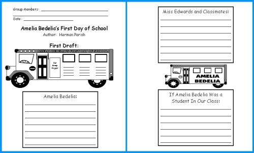 worksheets ameleia bedelia | Amelia Bedelia Goes Back to School ...