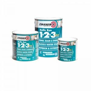 Zinsser Bullseye 123 Plus Use On The Woodwork In The Bathroom Primer Sealer Sealer Interior Matt