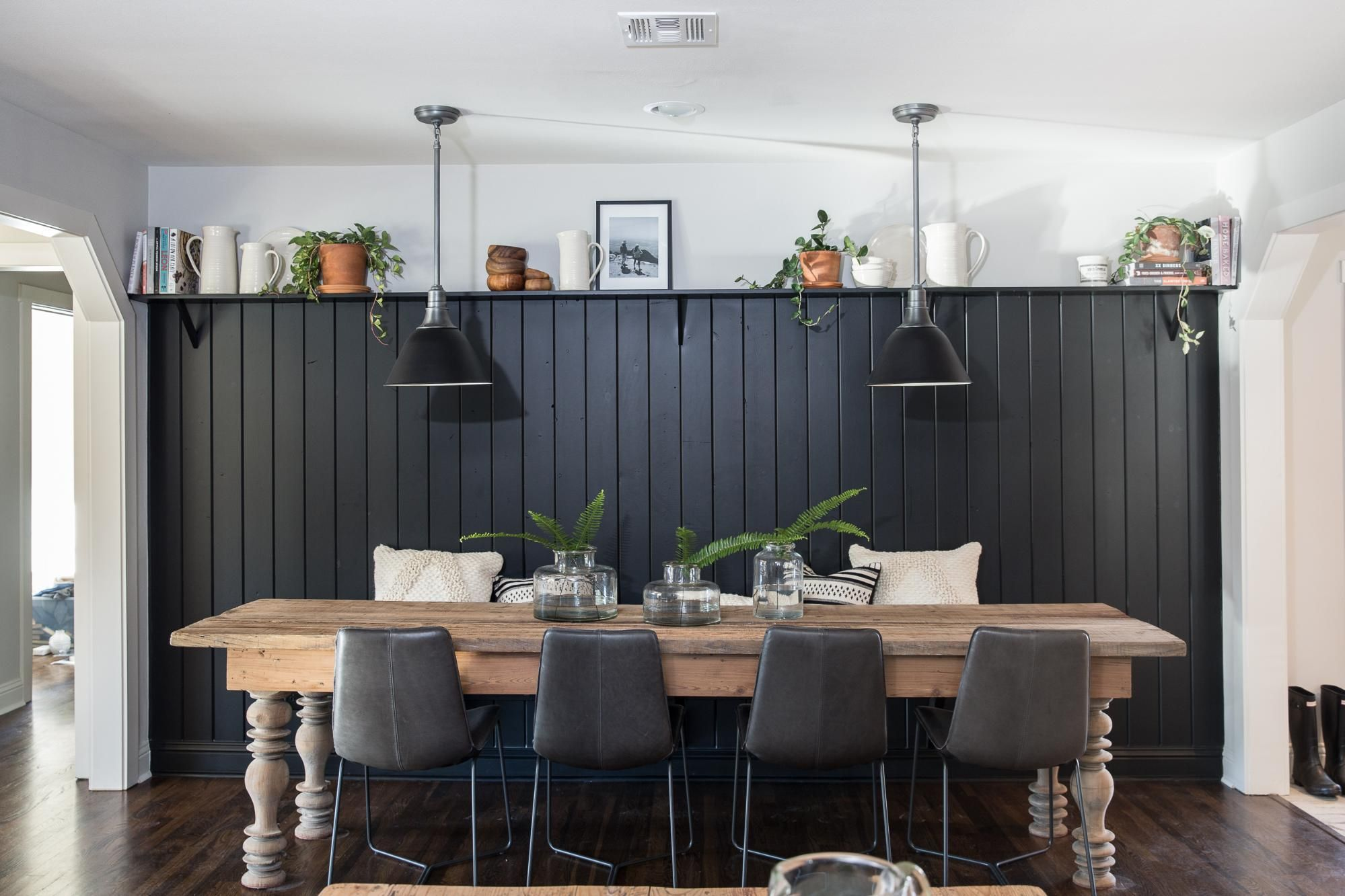 Fixer Upper Season 5 Episode 7 The Baker House Accent Wall Wainscoting Kitchen Dining Room Wainscoting Dining Nook