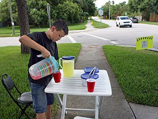 Two summers ago, T.J. Guerrero says, he started mowing lawns then also selling lemonade and cookies to raise money for an iPod. His ingenuity upset a neighbor, Doug Wilkey, who has emailed City Hall at least twice last summer and twice again this summer to try to get officials to put the kabash on what Wilkey says is excessive traffic that drives down his property values. The city says T.J. isn't breaking any laws.(Tampa, July 25, 2014) [Video by: JIM DAMASKE and Produced by: TRACEE ...