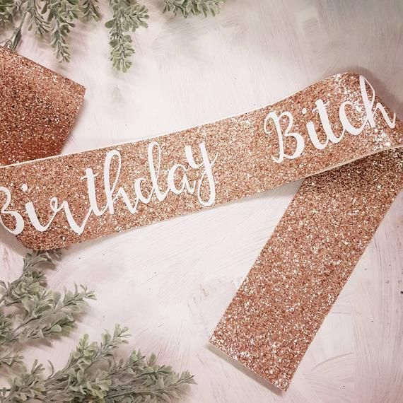 Birthday bitch glitter sash – rose gold glitter – 21st Birthday- finally 21 – 18… – Gift Ideas 2019 #21stbirthdaysash