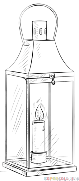 How to draw a lantern step by step. Drawing tutorials for