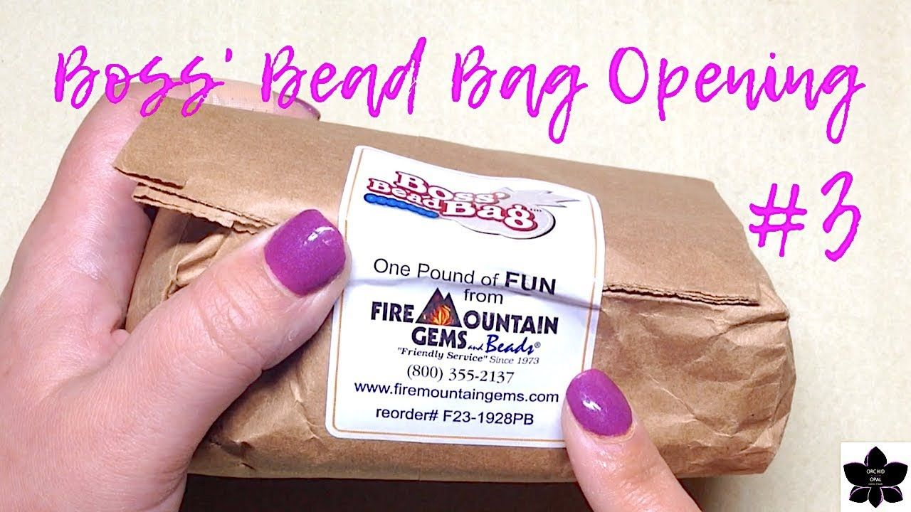 Boss Bead Bag Opening 3 Fire Mountain Gems 5 Bead And Jewelry Mak Beaded Bags Fire Mountain Gems Gem Online