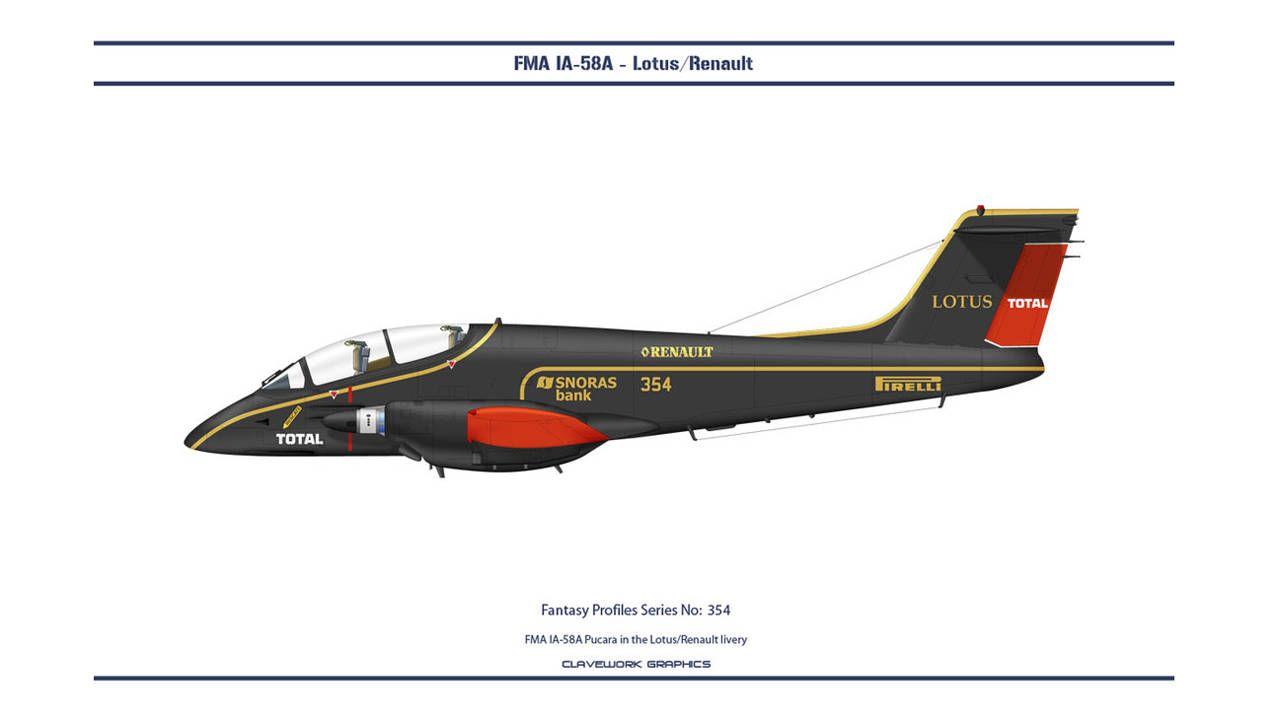 FMA 1A-58A Pucara in the Lotus/Renault Livery   - PopularMechanics.com