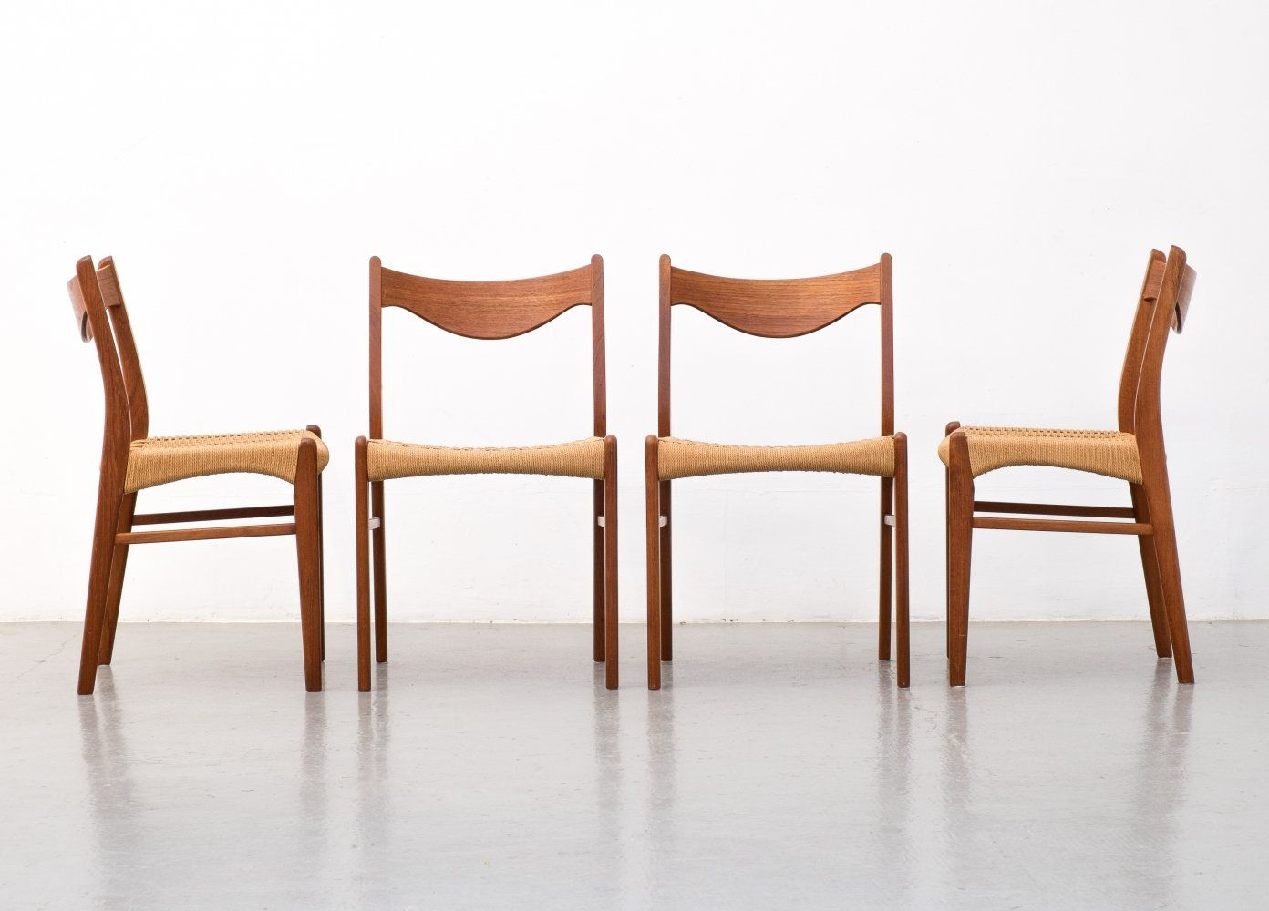 For sale Set of 4 dining chairs GS60 by Arne Wahl Iversen