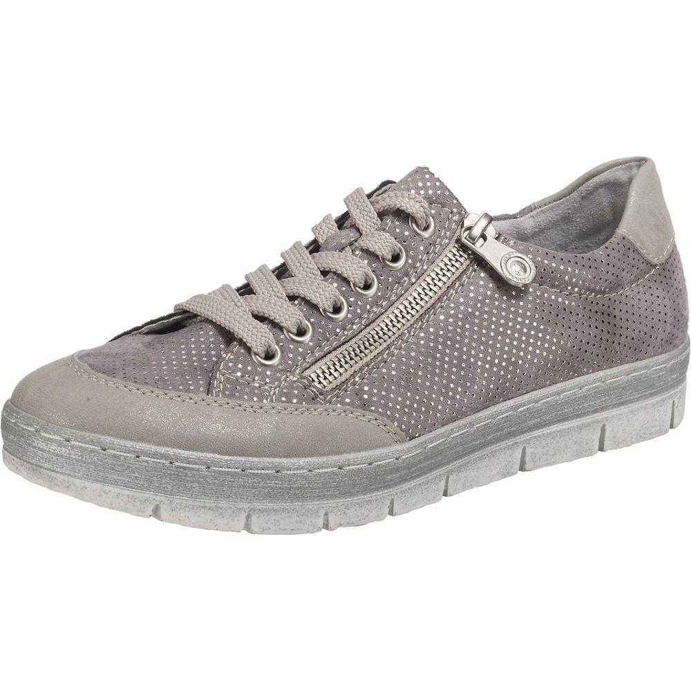 RIEKER Sneaker Damen, Grau Taupe Flieder, Größe 41 dGKMy
