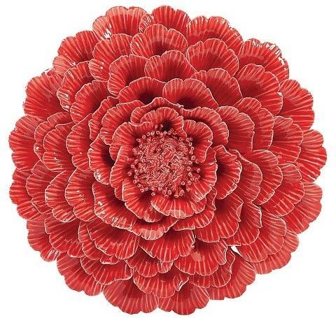 Aurora Flower Decorative Wall Sculpture - Coral | Products ...