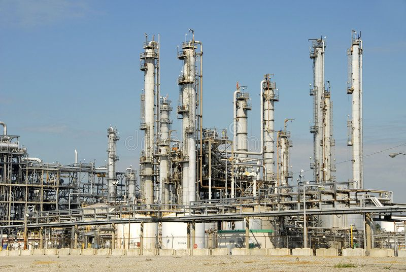 Oil Refinery. Large Industrial Plant for Refining Oil ,
