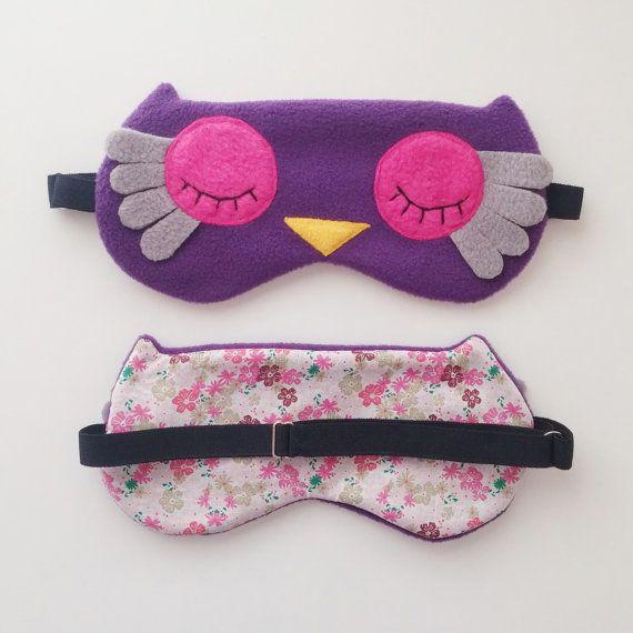 masque de nuit hibou masque de sommeil chouette par. Black Bedroom Furniture Sets. Home Design Ideas