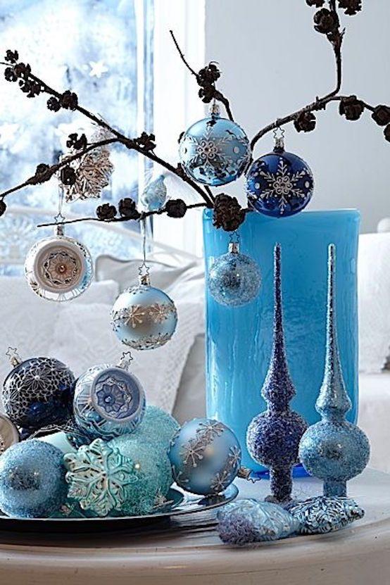 20 Blue Christmas Decor Ideas To Get Inspired Blue christmas, Blue