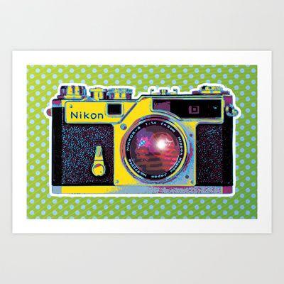 POP Nikon Camera Fine Art Print
