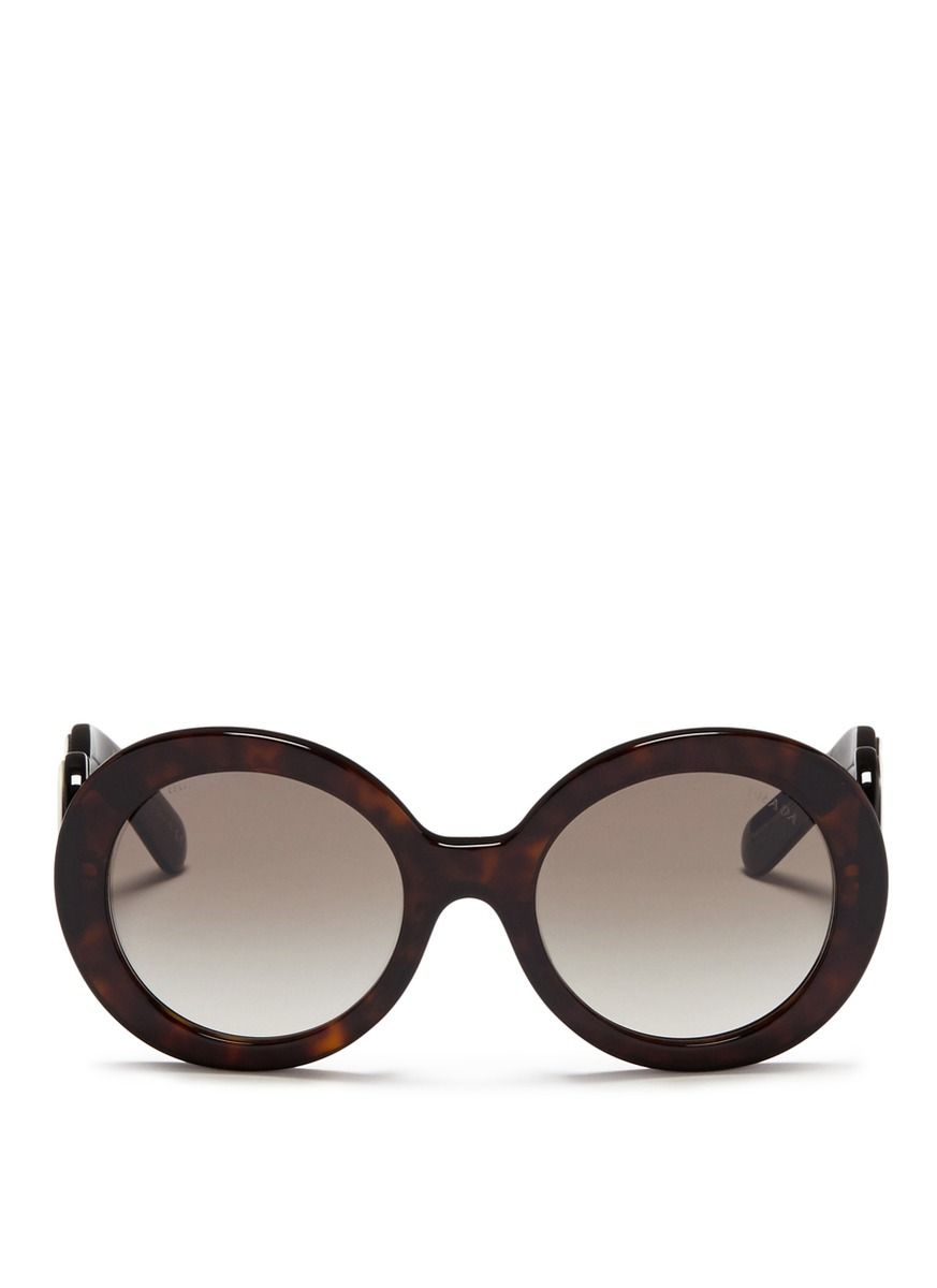 b8a9465108 PRADA  Minimal Baroque  swirl temple tortoiseshell acetate sunglasses.   prada  sunglasses
