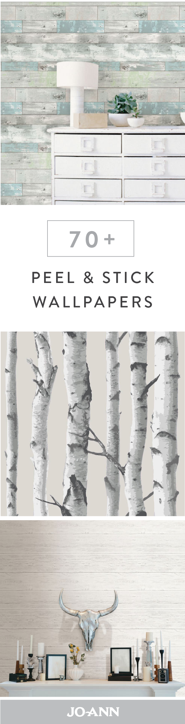 Say hello to the new face of wall decor this collection of peel