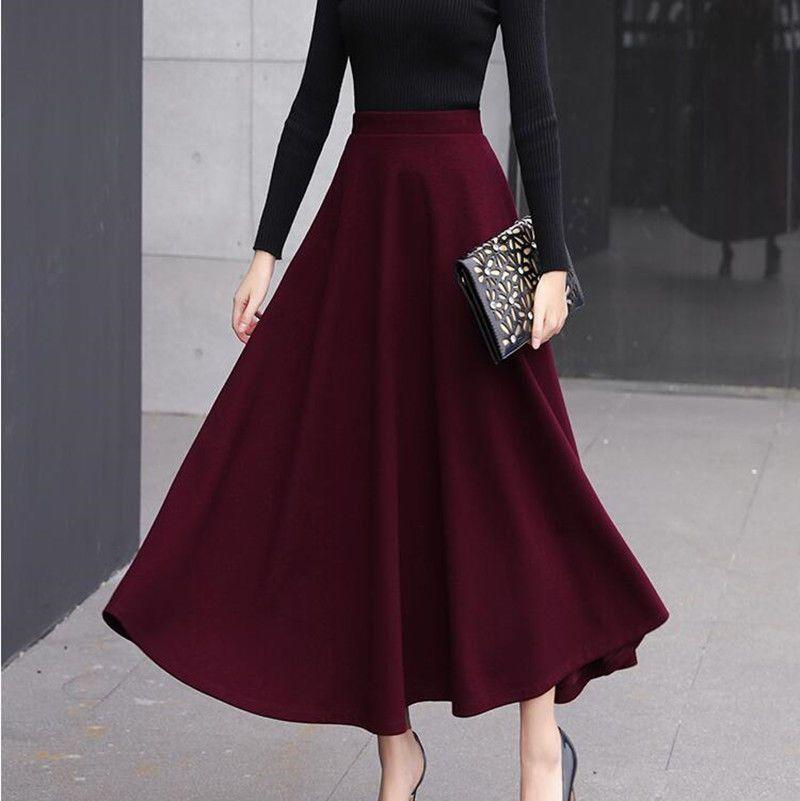 Winter Warm Women's Solid Half Dress Slim Thick Wool Blend