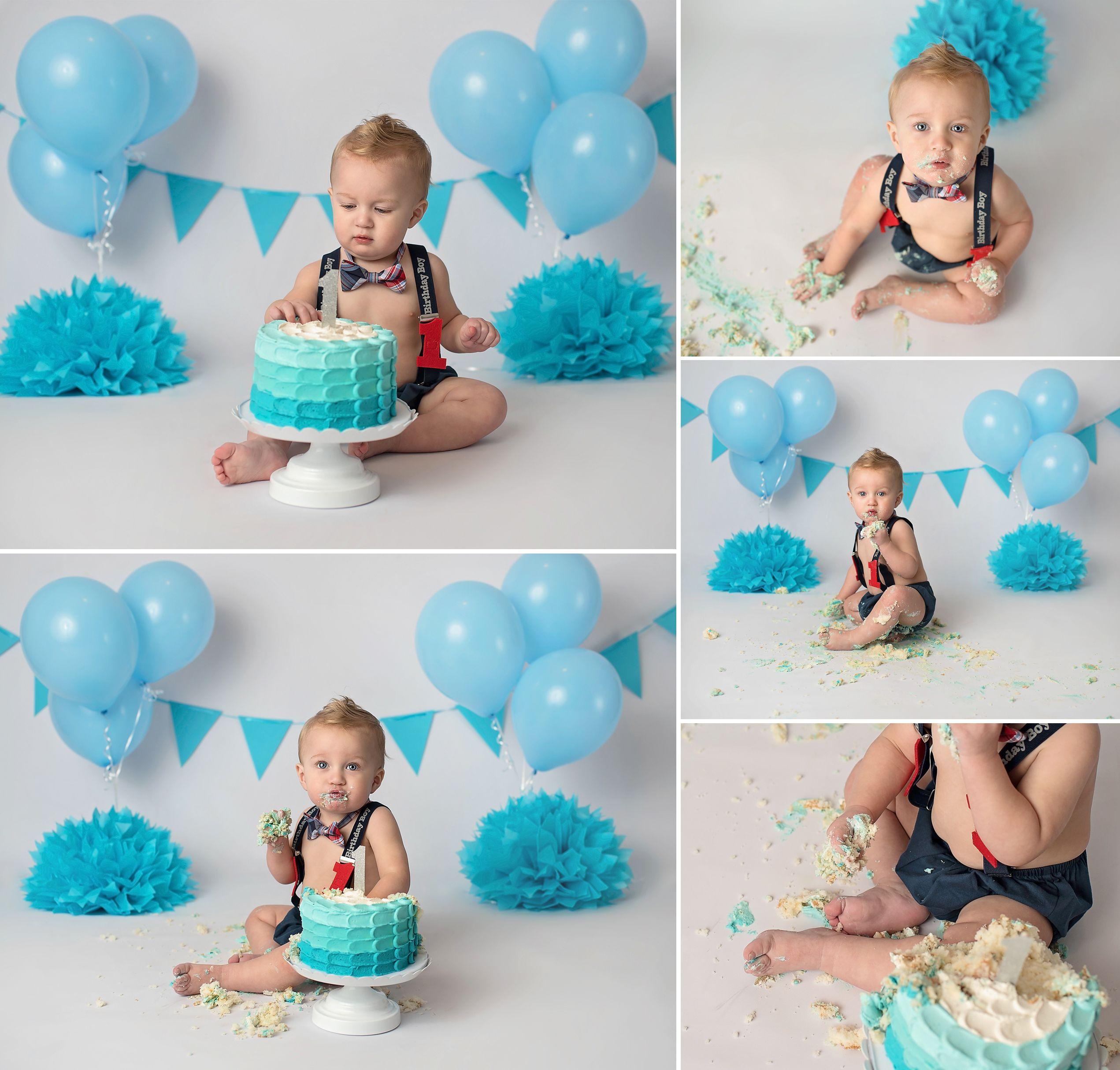 Ideas For A Simple Set Up For A Cake Smash Studio Session Photo Is Done By Tatiana Kahl Photography Boys 1st Birthday Cake Smash Cake Photoshoot Cake Smash Set