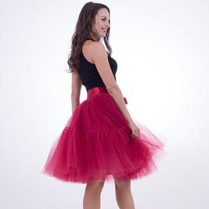 6c97be931a975 Party Train Petticoat 5 Layers Tutu Tulle Vintage Midi Pleated ...