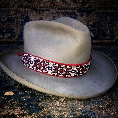 25a3ae6aa7a navajo inspired felt cowboy hat with rolled brim by Sam Robets visit  thesuaceusuppliers.com for hat inspiration