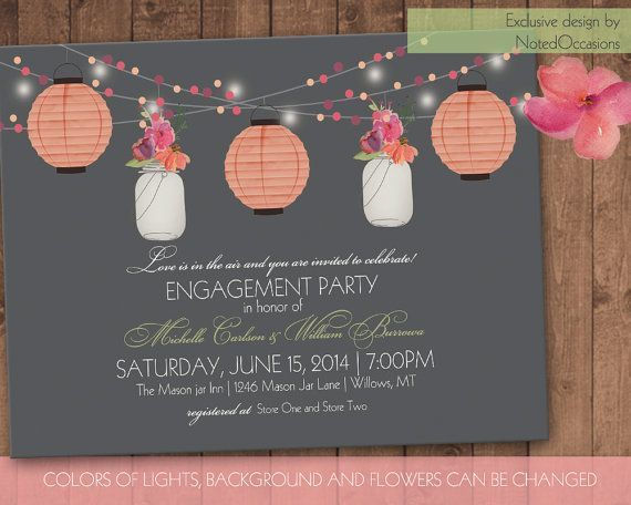 Garden Engagement Party Invitation