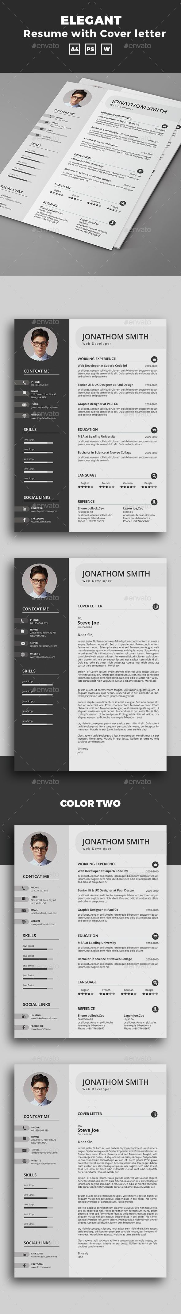 Resume — PSD Template #resume booklet #resume • Download ➝ https ...