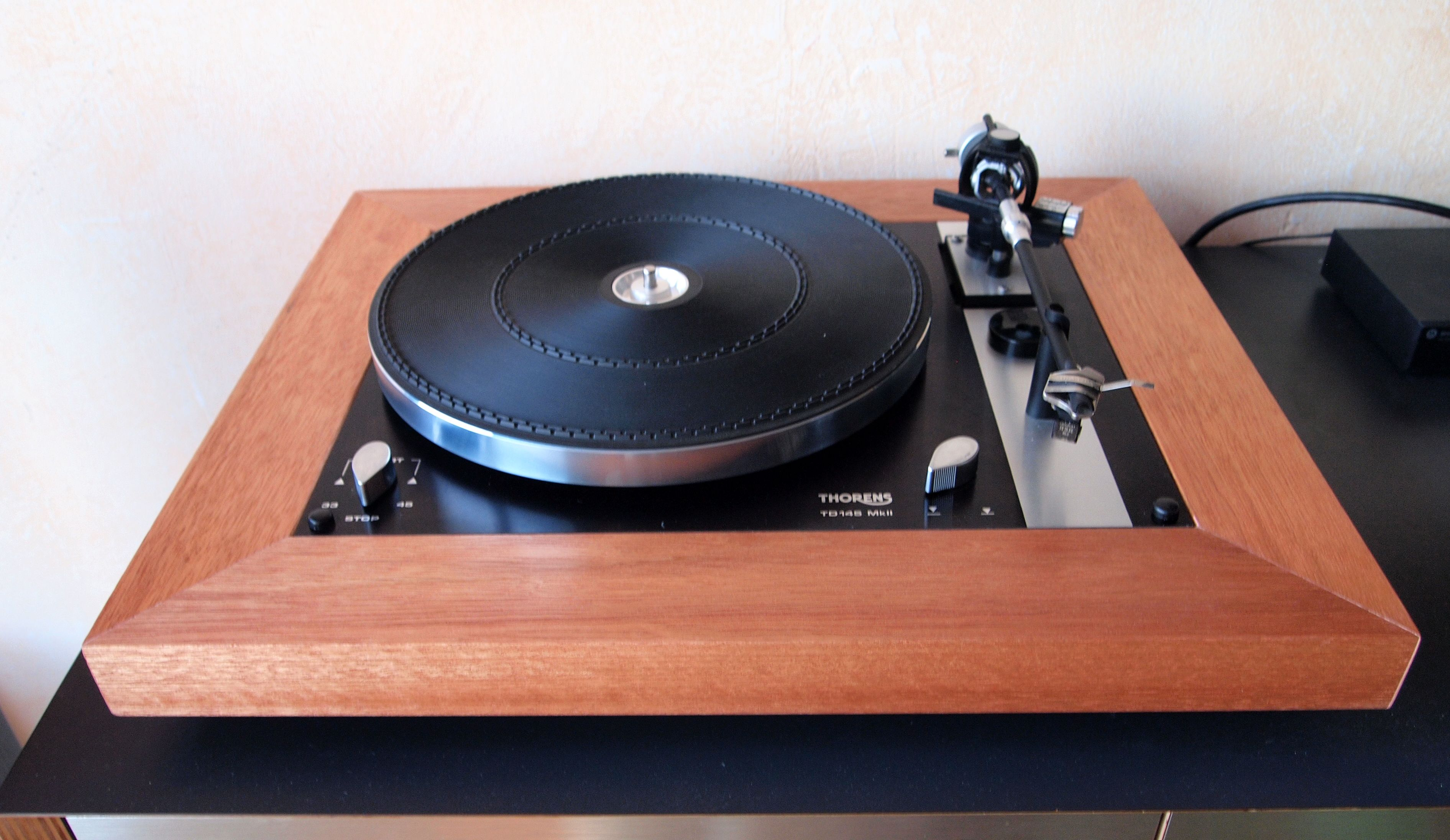 plinth for thorens td 145 mk ii made by anderson in hout plinthe