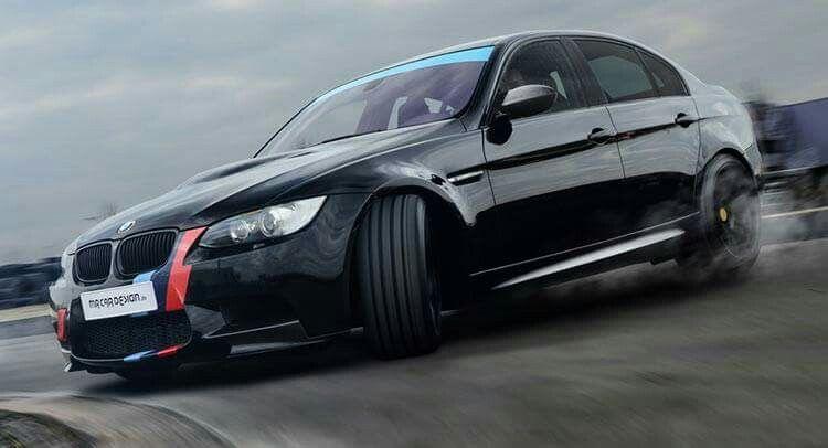BMW E90 M3 black ///M stripe