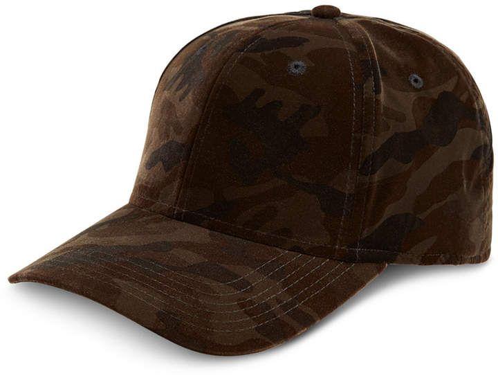 INC International Concepts I.n.c. Men s Camouflage Velvet Baseball Cap 344719bf771e