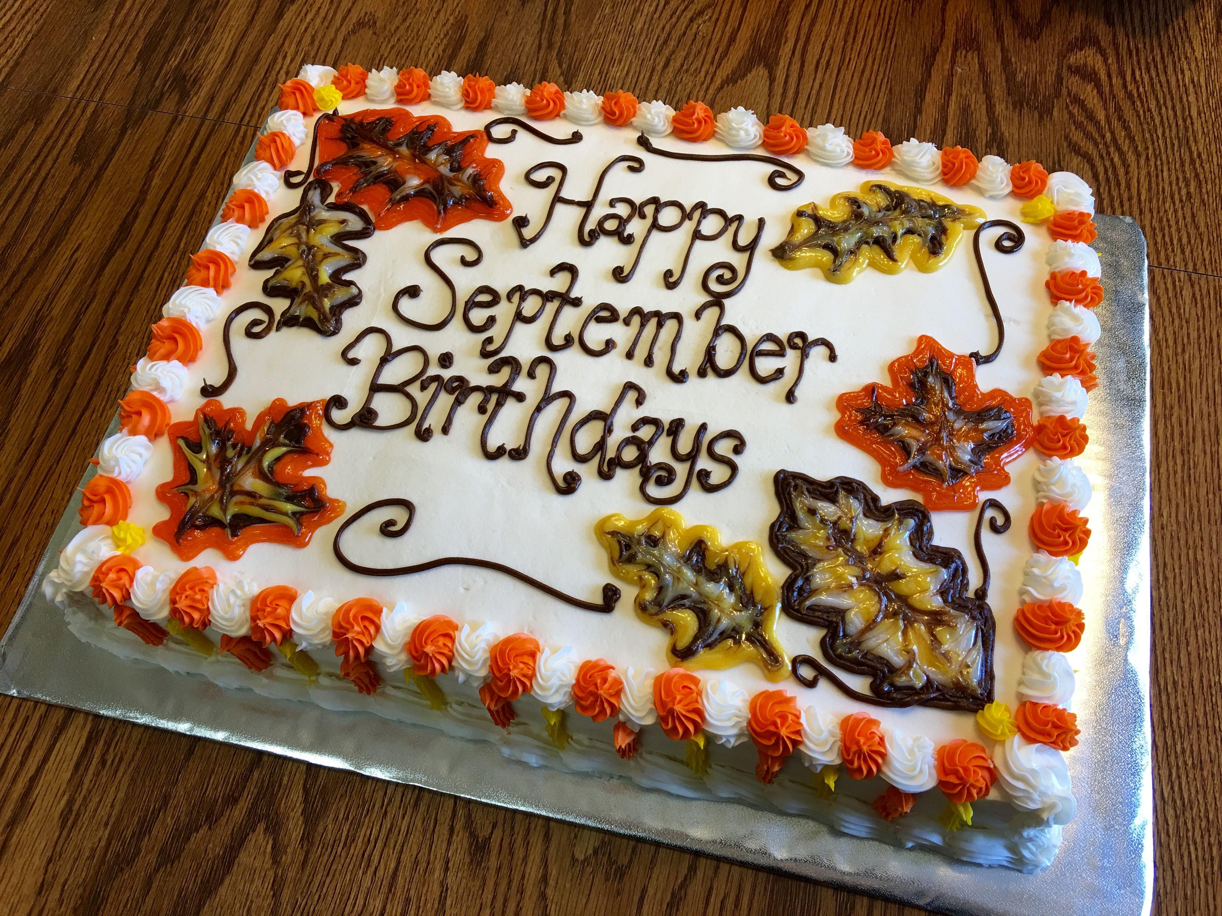 September Birthday Cake My Cakes Pinterest September birthday