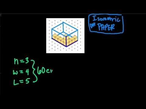 Rectangular Prisms on Isometric Dot Paper - YouTube Volume - isometric dot paper
