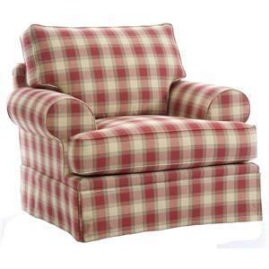 plaid overstuffed chair