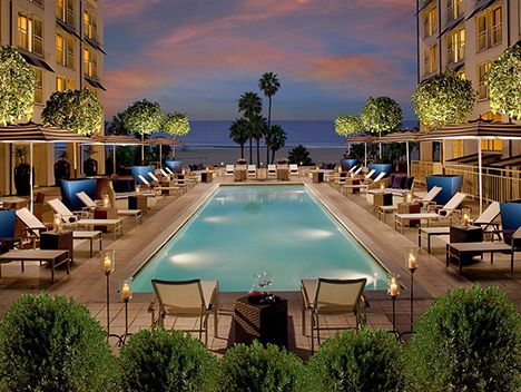 The Hottest Hotel Pools In Los Angeles Santa Monica Hotels Loews Santa Monica Beach Hotel Los Angeles Hotels