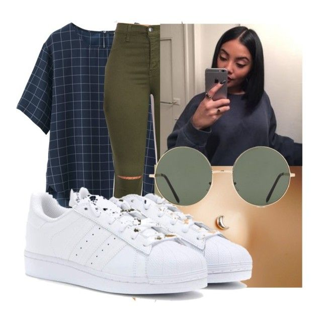 by theyenvy-jorii on Polyvore featuring polyvore fashion style Uniqlo adidas Forever 21 clothing