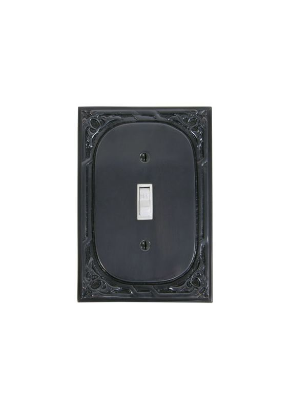 Brass Elegans 304 Victorian Single Rocker Solid Brass Switch Plate Dark Bronze Wall Controls Wall Plates Switch Plates