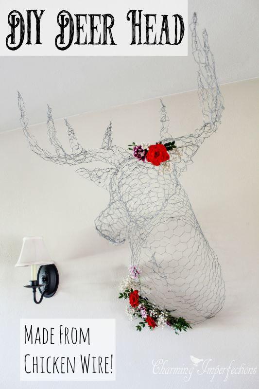 It\'s a Chicken Wire Deer Head | Pinterest | Chicken wire, Free and Craft