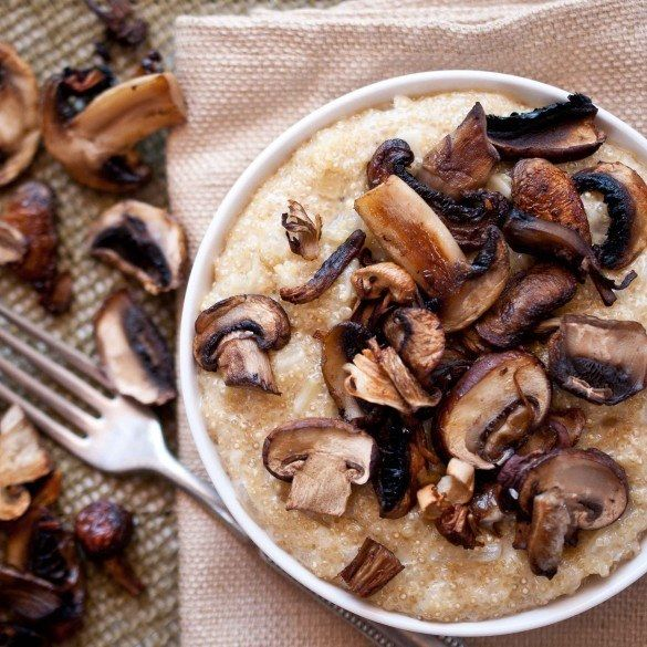 Quinoa and Roasted Mushroom Passover Risotto