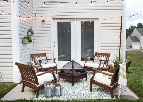 Bon How To Decorate A Small Patio | Blesserhouse.com   Utilize A Small Patio  Space With Chairs At Each Corner And A Fire Pit In The Middle For Function  And ...