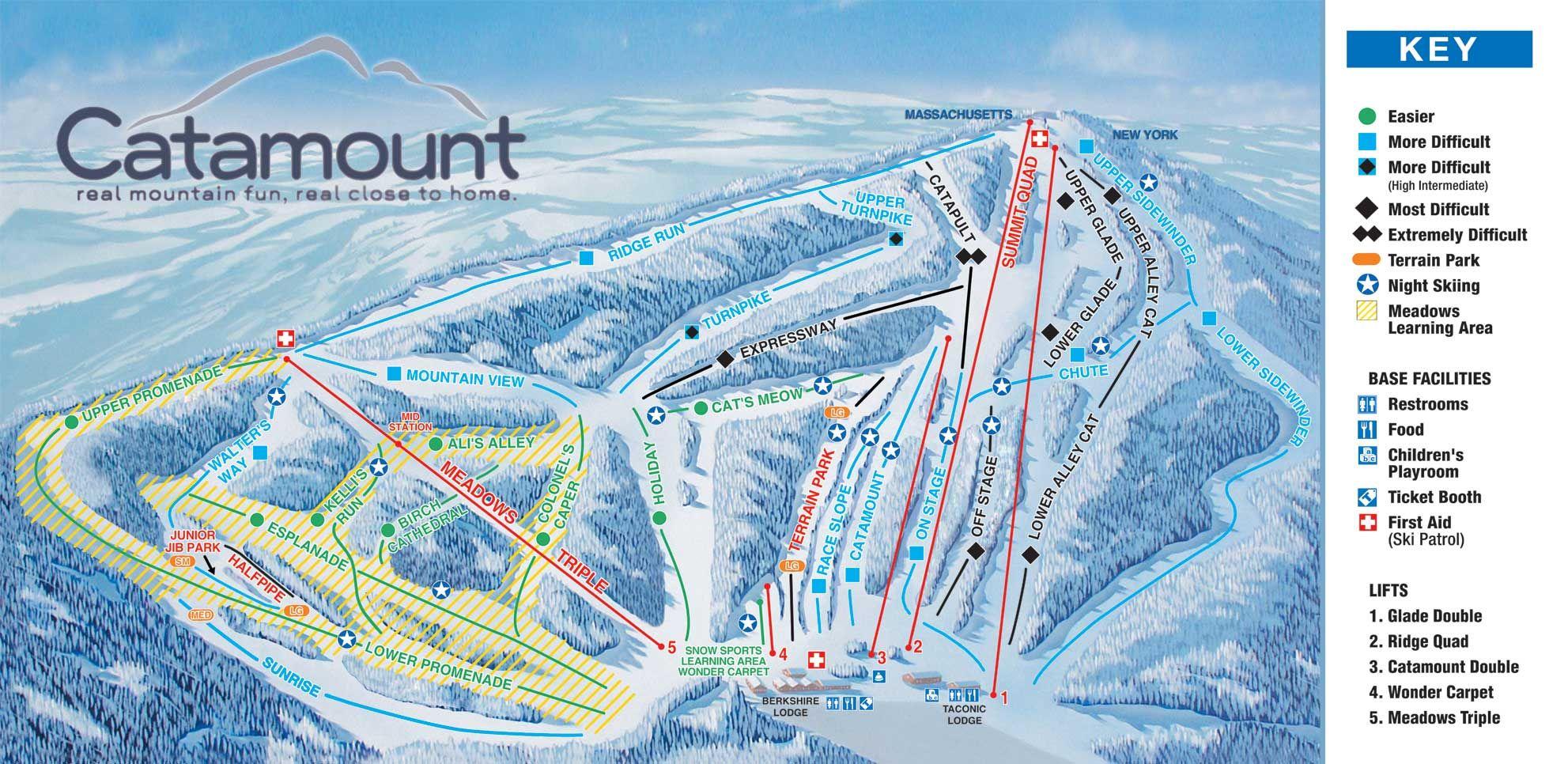 catamount   ny ski resorts   pinterest   skiing, trail maps and trail