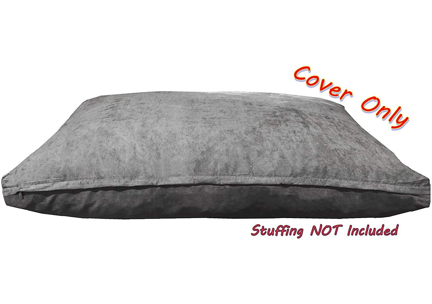 Dogbed4less Suede Duvet Pet Bed Cover For Small Medium To Large Jumbo Dog Bed In Gray Color 7 Siz Pet Bed Cover Jumbo Dog Bed Covered Dog Bed