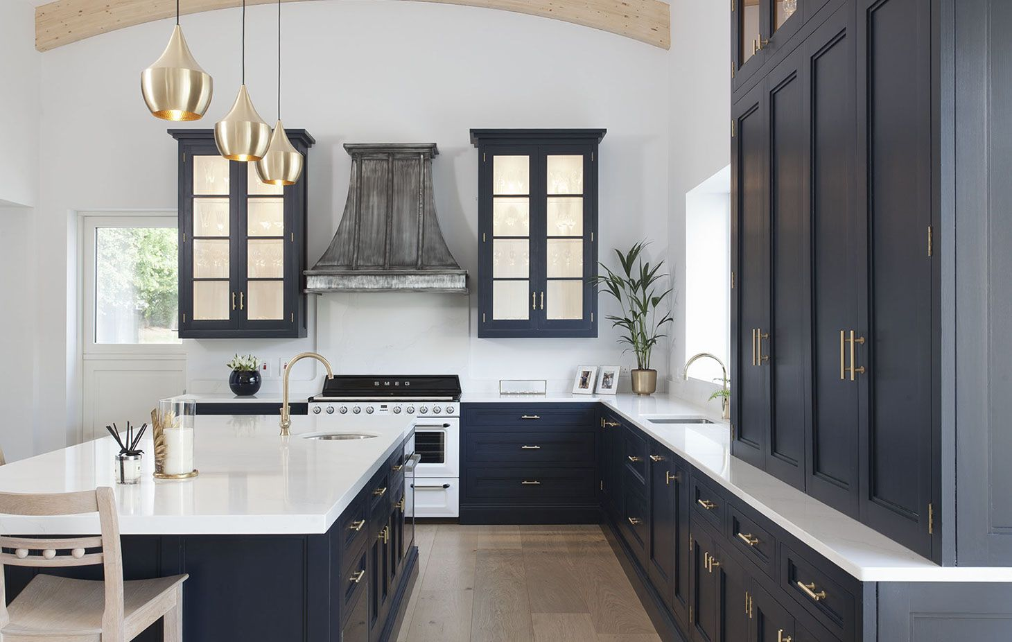 Bespoke Kitchen With Extra Height Units And Brass Handles Interior Design Kitchen Small Kitchen Design Interior Design Kitchen