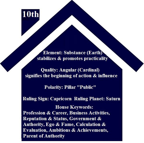 Astrology Basics - 10th House, From ©2009 Astrology Basics