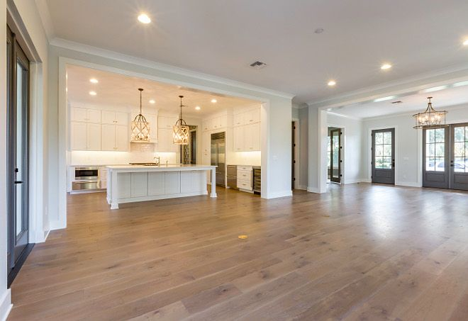 New homes floor plan ideas main layout plans foyer leads to  wide open dining room family and kitchen area also rh pinterest
