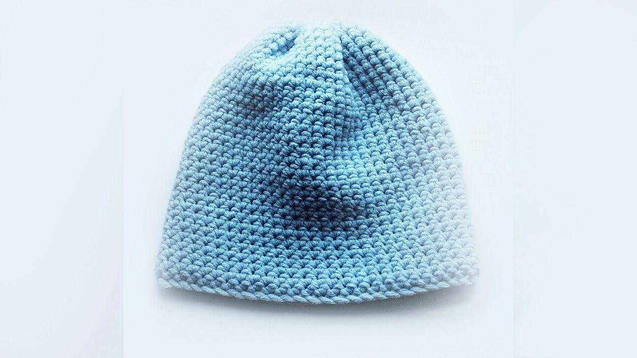 Шапка КРЮЧКОМ -  вязание шапки крючком для начинающих How to crochet a Hat