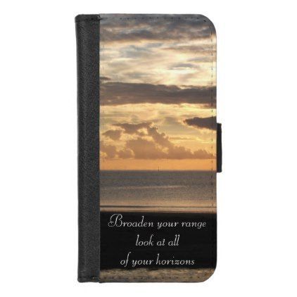 Horizons Nature Photo Quote by Kat Worth iPhone 8/7 Wallet Case