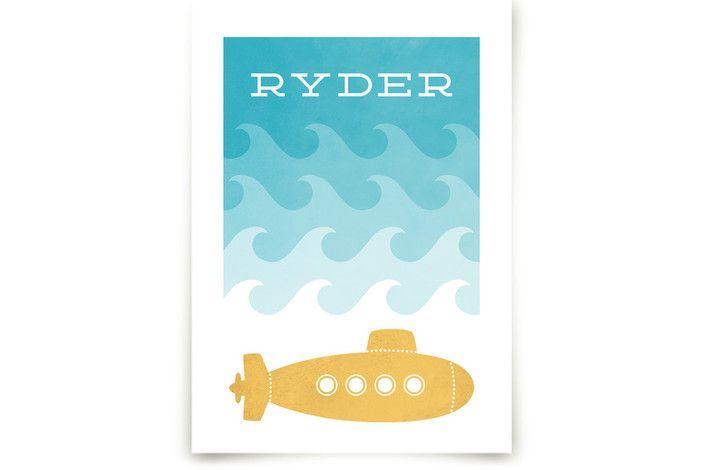 Submarine Art Prints by Hooray Creative at minted.com