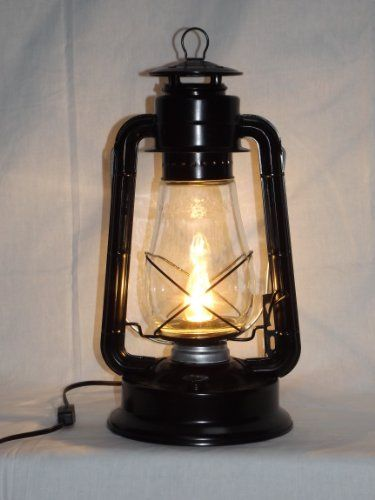 Dietz blizzard vintage style electric lantern table lamp black dietz blizzard vintage style electric lantern table lamp black aloadofball Image collections